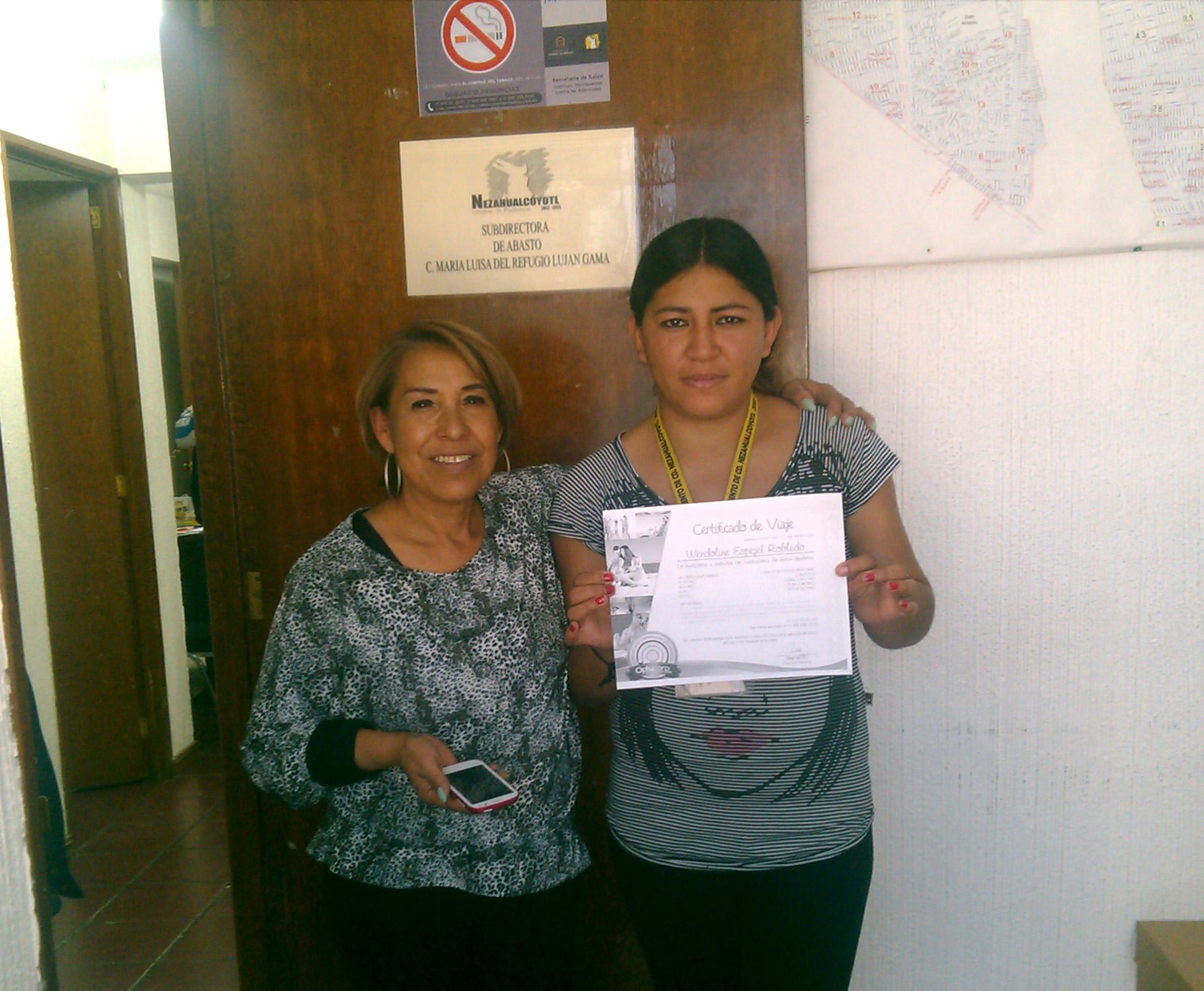 Wendoline Espejel Robledo, ganadora de paquete vacacional a cualquier parte de México
