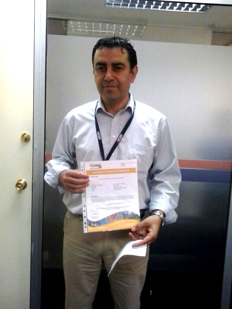 David Bahamondes, ganador del paquete vacacional!