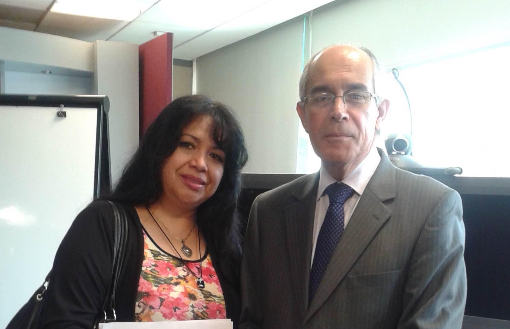 Con el excelentísimo sr embajador del Perú en México, Javier León Olavarria