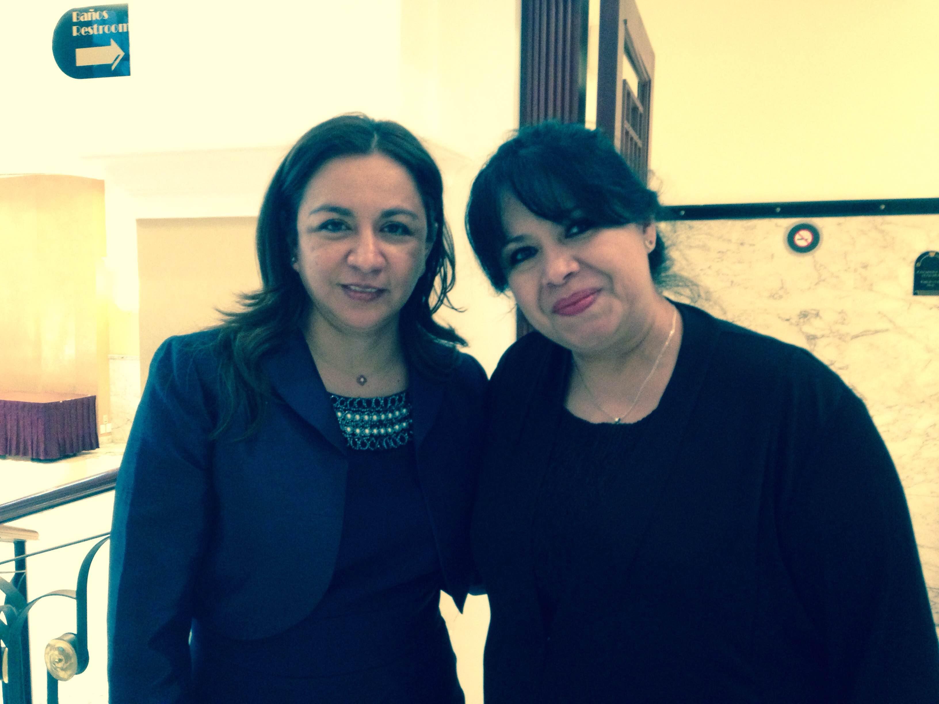 Con la 1a vicepresidenta de la República del Perú, Lic. Marisol Espinoza Cruz.