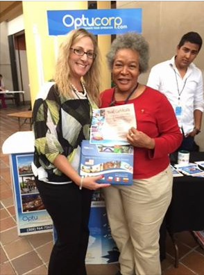 Sabrina Martin,  the lucky winner of a two-night hotel stay anywhere in the USA from Optucorp USA