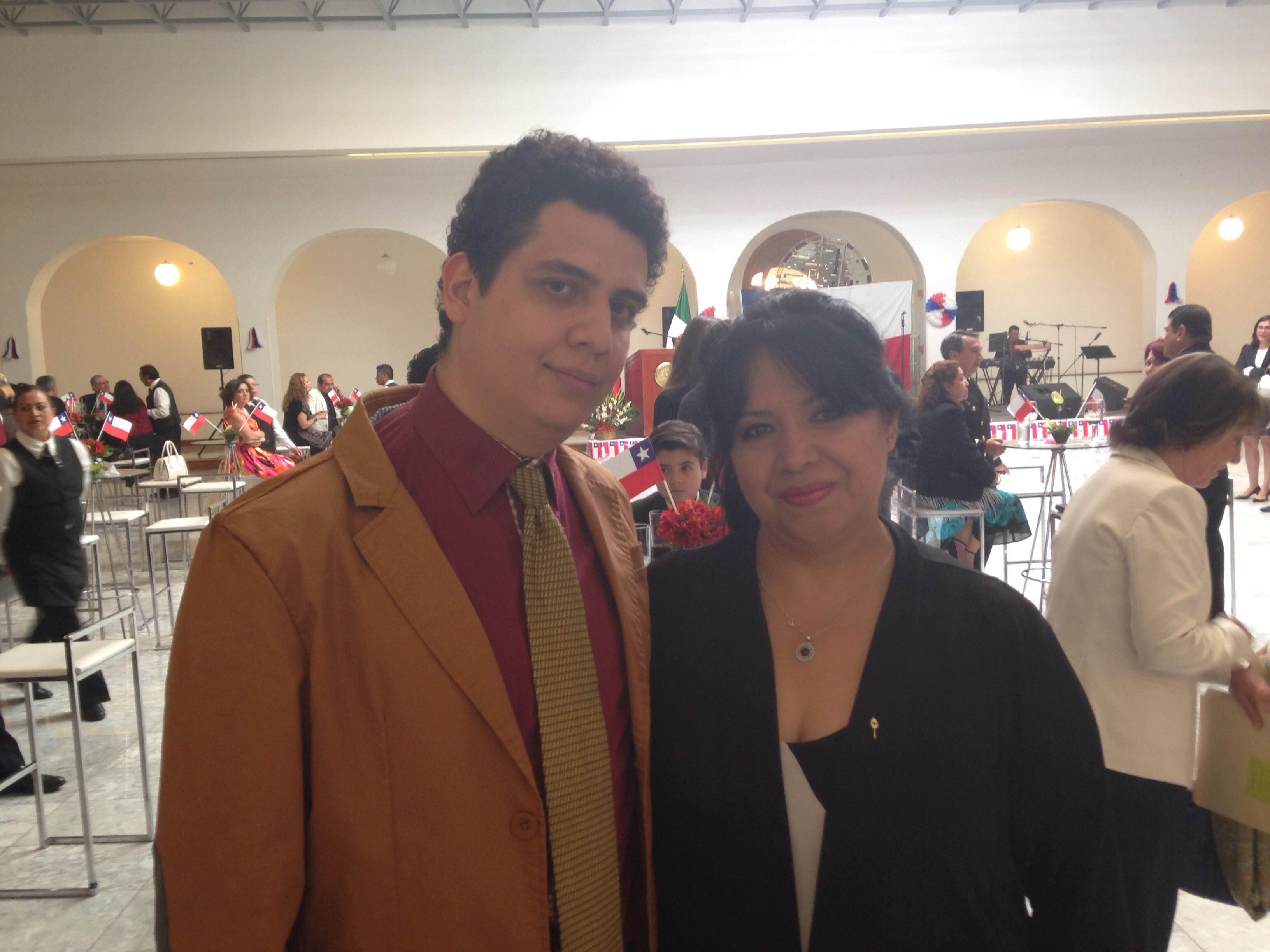 Con Gerardo Miguel de Prochile