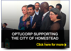 Optucorp supporting the City of Homestead