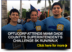 OPTUCORP ATTENDS MIAMI DADE COUNTY'S SUPERINTENDENT'S CHALLENGE 5K RUN/WAL